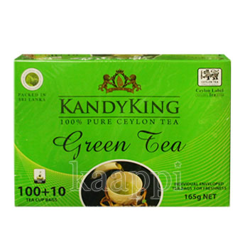 Чай Kandy King Green Tea зеленый 110 пак.