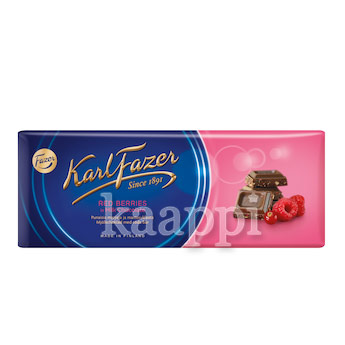 Молочный шоколад Karl Fazer Red Berries in milk chocolate с ягодами 200гр