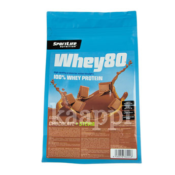 Протеин SportLife Nutrition Whey80 шоколадный 600гр