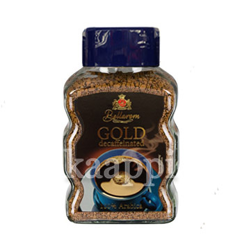 Кофе растворимый Bellarom Gold decaffeinated 100гр
