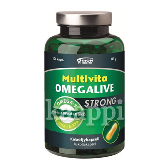 Омега-3 Orion Pharma Multivita Omegalive strong 100 капсул, 143г