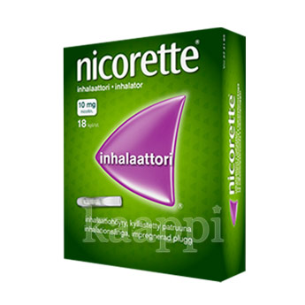 Ингалятор против курения Nicorette inhalaattori 10mg, 18 капсул