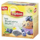 Чёрный чай Lipton Blueberry Muffin 20пак