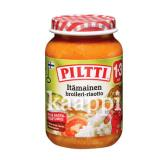 Детское питание Piltti Itamainen broileri-risotto (восточное ризотто с курицей) 1-3г 200гр